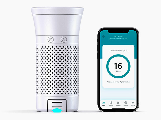 Wynd Plus: Smart Personal Air Purifier with Air Quality Sensor, now on sale for $199.95