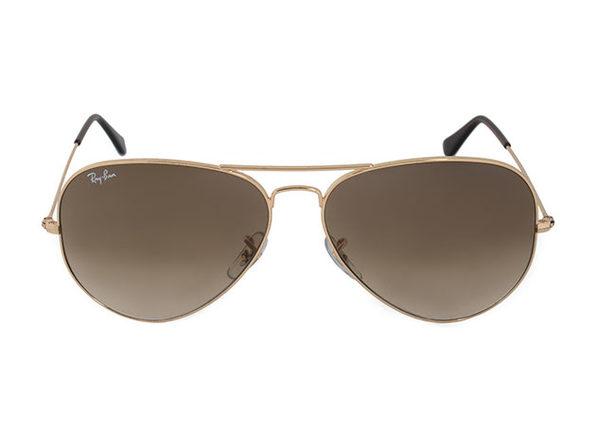 Aviator Glasses Brown Lens Gold Frames