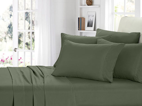 2000 Series Bamboo Fiber 6-Piece Sheets (King/Sage) - Product Image