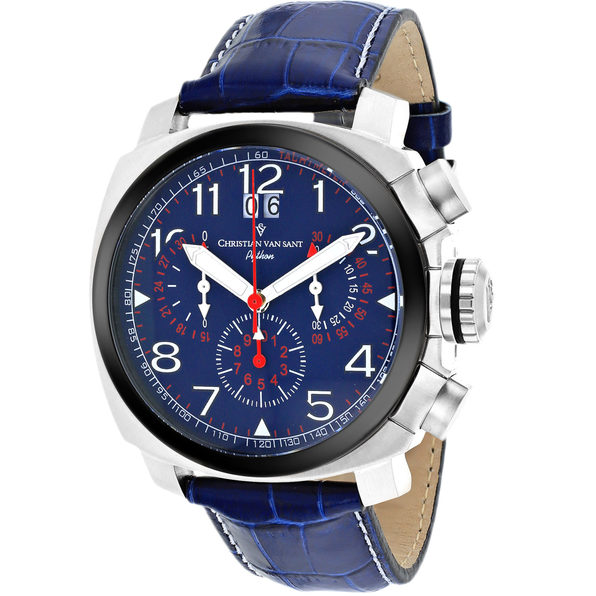 Christian Van Sant Men's Grand Python Blue Dial Watch - CV3AU3