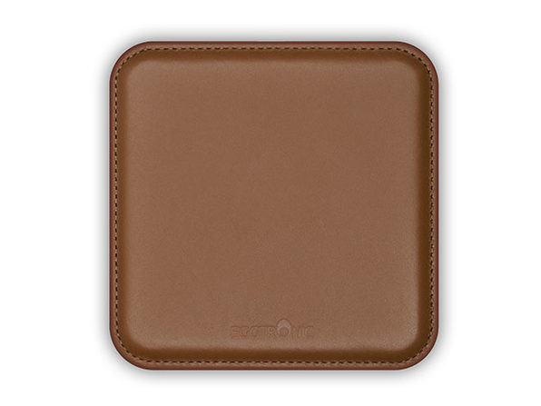 Genuine Leather Wireless Charging Pad (Brown)