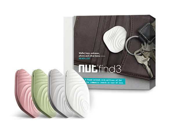 Nut Find 3 Smart Tracker (White/Green, 2-Pack)