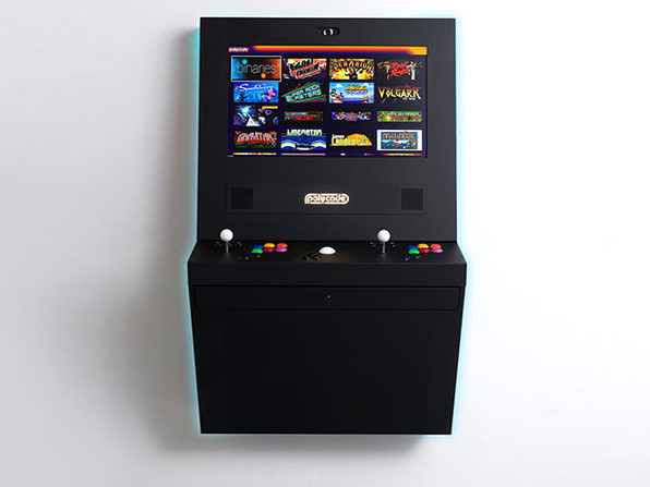 Polycade™ Home: Plug & Play Mounted Arcade (Black)