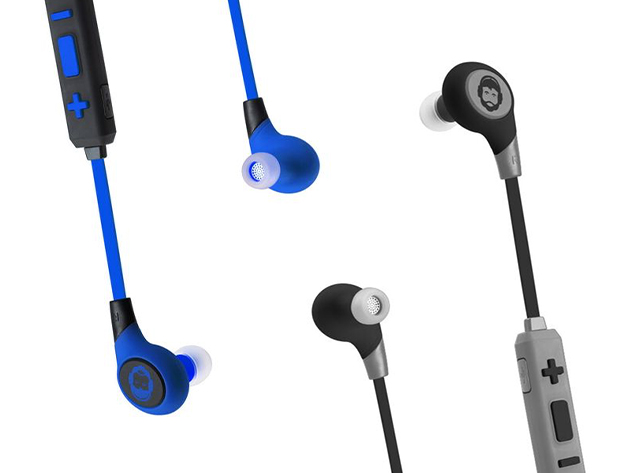 bkhc sport bluetooth earbuds the awesomer shop. Black Bedroom Furniture Sets. Home Design Ideas