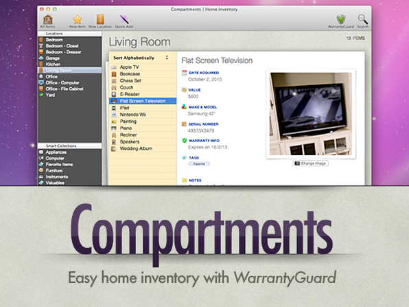 Compartments For Mac - Product Image