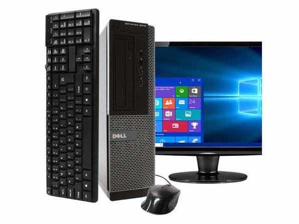 """Dell OptiPlex 3010 Desktop PC, 3.2GHz Intel i5 Quad Core Gen 3, 4GB RAM, 250GB SATA HD, Windows 10 Home 64 bit, BRAND NEW 24"""" Screen (Renewed)"""
